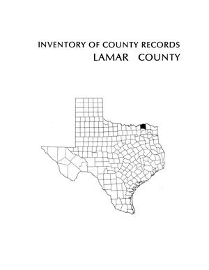 Primary view of object titled 'Inventory of county records, Lamar County Courthouse, Paris, Texas'.