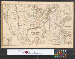 Primary view of object titled 'Political map of the United States, Texas, Mexico and the British provinces : adapted to Woodbridge's Geography.'.