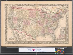 Primary view of object titled 'Map of the United States and territories, together with Canada &c.'.