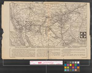 Primary view of object titled '[Map of the Atchison, Topeka, and Santa Fe Railway routes through the Southwestern United States].'.