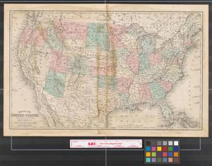 Primary view of object titled 'Map of the United States: engraved to illustrate Mitchell's new intermediate geography.'.