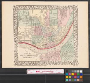 Primary view of object titled 'Plan of Cincinnati and vicinity.'.