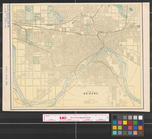 Primary view of object titled '[Maps of St. Paul and Minneapolis, Minnesota]'.