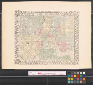 Primary view of object titled 'Plan of Baltimore [1874].'.