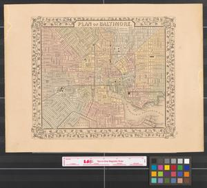 Primary view of object titled 'Plan of Baltimore [1866].'.