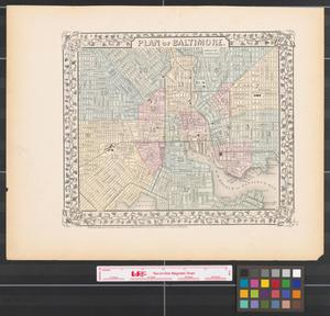 Primary view of object titled 'Plan of Baltimore [1872].'.