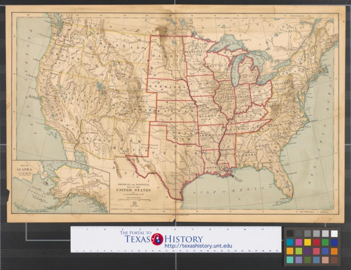 Physical And Political Map Of The United States The Portal To
