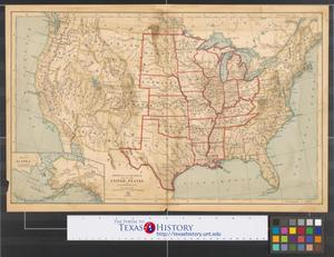 Primary view of object titled 'Physical and political map of the United States.'.