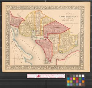 Primary view of object titled 'Plan of the city of Washington the capitol of the United States of America [1860].'.