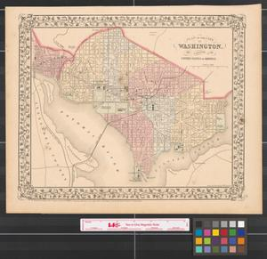 Primary view of object titled 'Plan of the city of Washington the capitol of the United States of America [1870].'.