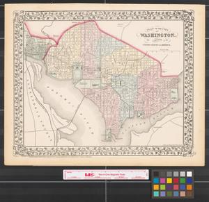 Primary view of object titled 'Plan of the city of Washington the capitol of the United States of America [1872].'.