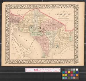 Primary view of object titled 'Plan of the city of Washington the capitol of the United States of America [1867].'.