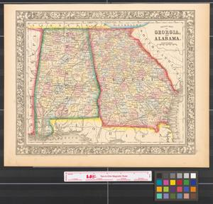 Primary view of object titled 'County map of Georgia, and Alabama.'.