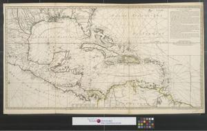 Primary view of Carte d'une partie de l'Amerique pour la navigation des isles et du Golfe du Mexique avec l'interieur des terres : depuis la Bermude jusqu'a Cayenne partie meridionale ...