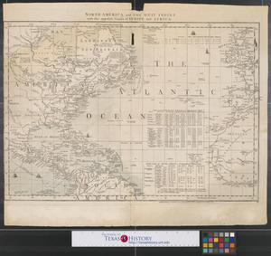 Primary view of object titled 'North America and the West Indies with the opposite coasts of Europe and Africa.'.