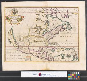 Primary view of object titled 'A new map of North America : shewing [sic.] its principal divisions, chief cities, townes, rivers, mountains &c.'.