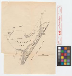 Primary view of object titled '[Map of the Gulf Coast from Padre Island to Rockport]'.