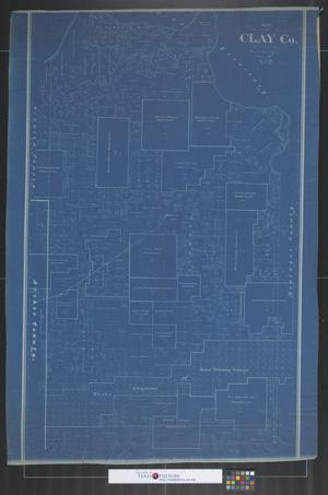 Primary view of object titled 'Map of Clay Co.'.
