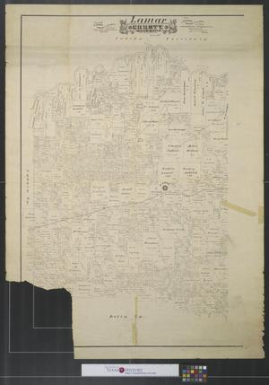 Primary view of object titled 'Lamar County, State of Texas.'.