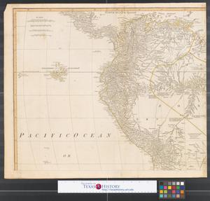 Primary view of object titled 'A map of South America : containing Tierra-Firma, Guayana, New Granada, Amazonia, Brasil, Peru, Paraguay, Chaco, Tucuman, Chili and Patagonia [Sheet 3].'.
