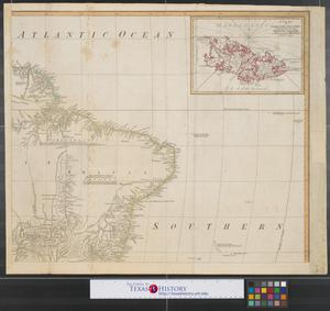 Primary view of A map of South America : containing Tierra-Firma, Guayana, New Granada, Amazonia, Brasil, Peru, Paraguay, Chaco, Tucuman, Chili and Patagonia [Sheet 4].