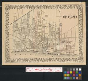 Primary view of object titled 'Plan of Detroit.'.