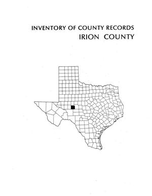 Inventory of county records, Irion County courthouse, Mertzon, Texas