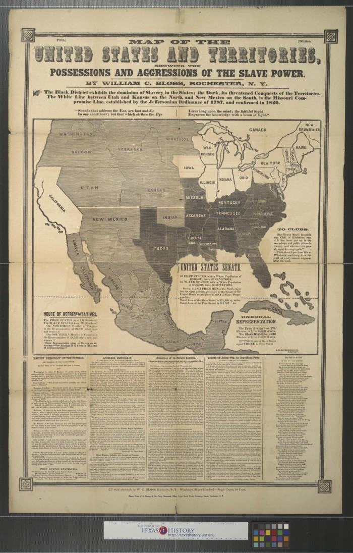 Map of the United States and territories: showing the possessions ...