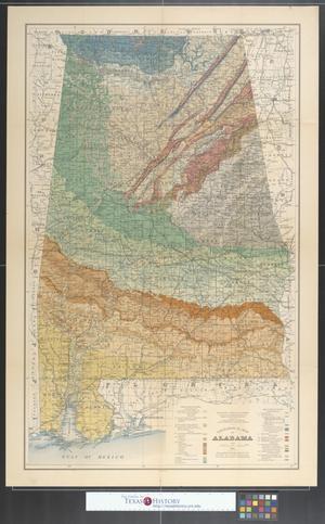 Geological Map Of Alabama Sheet The Portal To Texas History - Map of alabama