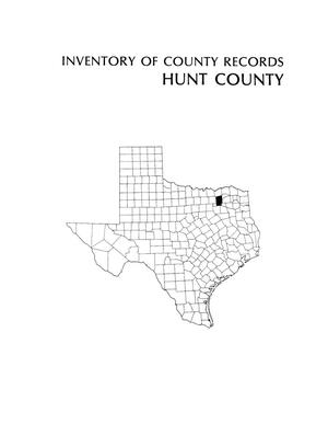 Primary view of object titled 'Inventory of county records, Hunt County courthouse, Greenville, Texas'.