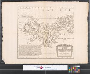 Primary view of Carta maritima del Reyno de Tierra Firme ú Castilla del Oro comprehende el Istmo de Panamá y la Provincia de Veragua, Darien y Biruquete.