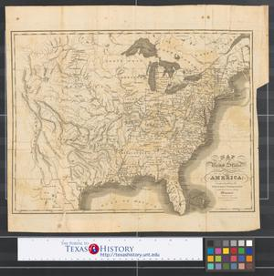 Primary view of object titled 'Map of the United States of America : comprehending the western territory with the course of the Missouri.'.