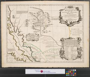Primary view of Le nouveau Mexique, appelé aussi Nouvelle Grenade et Marata, avec partie de Californie : selon les memoires les plus nouveaux.