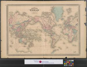 Primary view of object titled 'Johnson's World : on Mercator's projection.'.