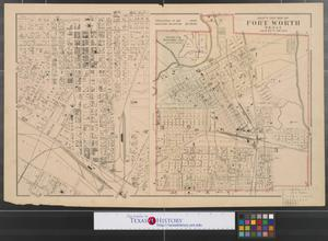 Primary view of object titled 'Gray's new map of Fort Worth Texas.'.