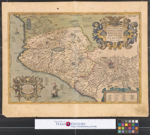 Primary view of Hispaniae novae sivae magnae, recens et vera descripto 1579.