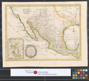 Primary view of Carte du Mexique ou de la nouvelle Espagne: ou l'on peut suivre les mouvemens des côstes pour l'Histoire de l'Amerique.