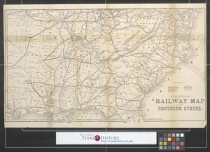 Primary view of object titled 'Appletons' railway map of the southern states.'.