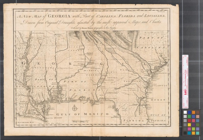 A New Map Of Georgia With Part Of Carolina Florida And Louisiana