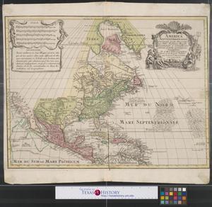 Primary view of America Septentrionalis : concinnata juxta observationes Dñn Academiae Regalis Scientiarum et nonnullorum aliorum, et juxta annotationes recentissimas.