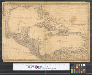 Primary view of object titled '[Map of the West Indies, New Spain, and coastlines adjacent to the Gulf of Mexico]'.