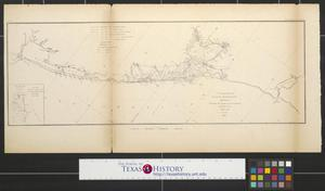 Primary view of object titled 'United States Coast Survey : Sketch I, showing the progress of the survey in section no. 9 from 1848 to 55.'.