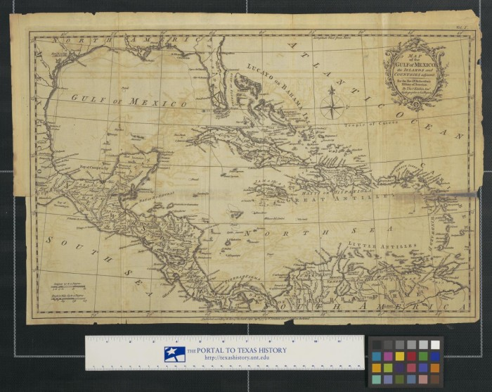 Map of the gulf of mexico the islands and countries adjacent map of the gulf of mexico the islands and countries adjacent for the rev dr robertsons history of america sciox Image collections