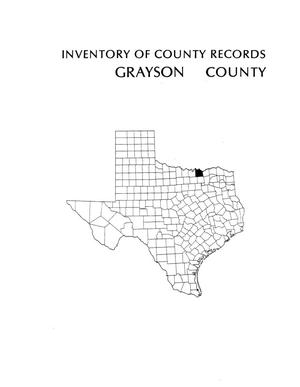 Primary view of object titled 'Inventory of county records, Grayson County courthouse, Sherman, Texas'.