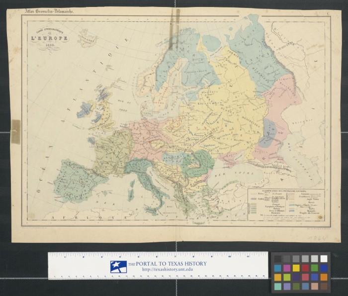 Texas Vs Europe Map.Carte Ethnographique De L Europe The Portal To Texas History