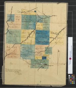 Primary view of object titled '[Map of surveys] situated south of the Sabine River.'.