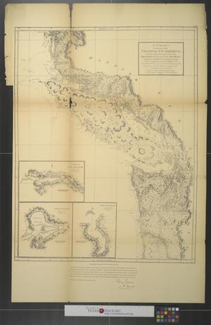 Primary view of object titled 'A chart shewing part of the coast of N.W. America : with the tracks of His Majesty's sloop Discovery and armed tender Chatham.'.