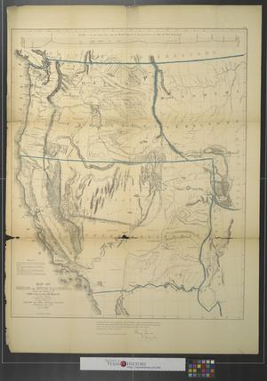 Primary view of object titled 'Map of Oregon and Upper California : from the surveys of John Charles Frémont and other authorities.'.