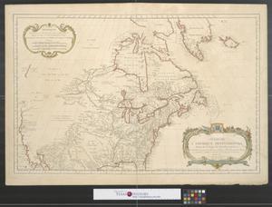 Primary view of Carte de l'Amerique Septentrionale: depuis le 28 degré de latitude jusqu'au 72.
