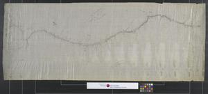 Primary view of object titled 'Tracing of F. S. Hodges Line from Antelope Hills to Albuquerque.'.